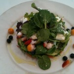 Summer Fruit & Herb Salad with Avocado & Brie at Manna - really yummy